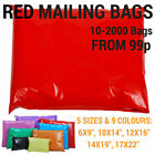 Coloured Mailing Bags Plastic Mail Post Postage Polythene Strong Seal All Sizes <br/> Same Day Dispatch - 8 Colours - 6 Sizes - 10-2000 Bags