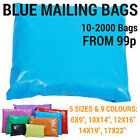 Coloured Mailing Bags Strong Polythene Postage Plastic Mail Post Seal All Sizes