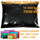 Coloured Mailing Bags Strong Polythene Postage Plastic Mail Post Seal All Sizes <br/> UK Manufacturer - 8 Colours - 5 Sizes - 10-2000 Bags