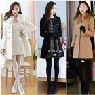 New Fashion Women's faux Wool Cashmere Winter Noble Long Jacket Coat New tops
