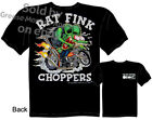 Ed Roth Rat Fink T Shirt Choppers Big Daddy Clothing Hot Rod Wear Bobber Tee