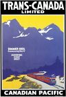 TR86 Vintage 1925 Canadian Pacific Railway Travel Poster Re-Print A1/A2/A3/A4