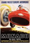 AV41 Vintage 1955 Monaco Grand Prix D'Europe Motor Racing Poster A1/A2/A3/A4