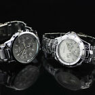 Charming Mens Stainless Steel Quartz Battery Movement Wrist Watch Watches New