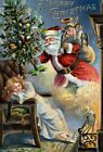 AD41 Vintage Victorian Father Christmas Santa Clause Poster Re-Print A3/A4