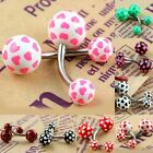 Hearts Belly Button Curve Bar Barbell Navel Nipple Rings Body Piercing Jewelry