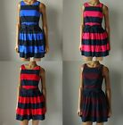 "NWT ABERCROMBIE & FITCH ANF WOMENS ""MORGAN"" Belted Striped Sun Dress"