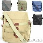CANVAS SHOULDER MESSENGER CROSSBODY TRAVEL WORK SCHOOL BAG (5 COLOURS)