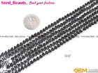 "Jewelry making heart Gemstone black hematite beads strand 15"" seed-beauty"