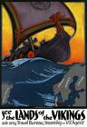 TA47 Vintage Land Of The Vikings Scandinavian Travel Poster Re-Print A1/A2/A3/A4