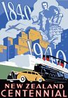 T44 Vintage 1940's New Zealand Travel Poster Re-Print A1/A2/A3/A4