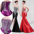 2014 Stunning Sequins Slim Formal Bridesmaid Evening Long Gown Party Prom Dress