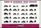 2W33 Vintage Recognise Light Medium Heavy Armoured Cars War Poster WW2 A2 A3 A4