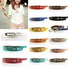 New Womens Girl Candy Color Waistband Leather Thin Skinny Adjustable Belt Girdle