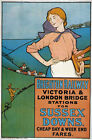 TX80 Vintage Brighton Railway Sussex Downs Travel Poster Re-print A2/A3/A4