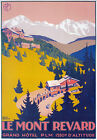 TX181 Vintage Le Mont-Revard Winter French France Travel Poster Reprint A3/A4