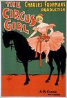 TZ57 Vintage 1890's Circus Girl Theatre Poster Re-Print A1/A2/A3/A4