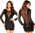 Women's Sexy Sizzling Sequin-studded Party Package Hip Diso Mini Dress Clubwear