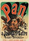 AP08 Vintage PAN  Jules Cheret French Journal Of Satire Poster A1/A2/A3/A4
