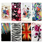 New Painted Patterns Colorful Hard Plastic Back Case Cover F Sony Xperia Z1 L39h