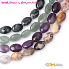 10x14mm Mixed Oval Gemstone Jewelry Making Loose Beads 15inches,16 Material Pick