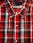 - CREMIEUX Red Plaid Cotton Short Sleeve Mens Casual Shirt NWT F-594 Ret $59.50