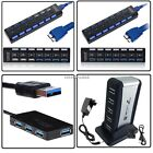 4 Ports 7 Ports USB 3.0  USB 2.0 AC Powered Smart Hub for PC Laptop with Cable