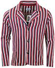 NEW RETRO INDIE MOD SIXTIES STRIPE Striped JERSEY BOATING BLAZER CARDIGAN
