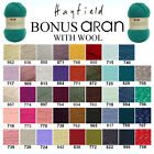 Hayfield by Sirdar Bonus Aran with Wool 400g Knitting Yarn - ALL COLOURS