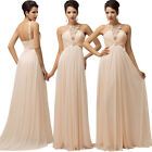 New Sexy Bride Slim Long Wedding Evening Celeb Party Ball Gown Prom Formal Dress