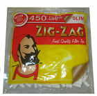 NEW ZIG ZAG SLIM 450 FILTER TIPS SMOKING CIGARETTE ROLLING RESEALABLE BAG