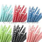 New 25Pcs Small Polka Dot Paper Drinking Straw Wedding Party Birthday Decoration
