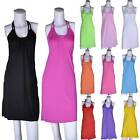 Womens Halter Skirt Beach Swimsuit Dress Bikini Cover Up Swimwear Top Vest S M L