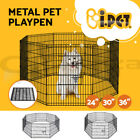 8 Panel Pet Playpen Dog Cage Puppy Exercise Crate Enclosure Rabbit Fence