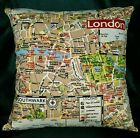 LL324a Tan Deep Red Beige Black Cotton Canvas Fabric Cushion Cover/Pillow Case