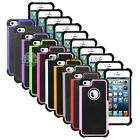 Hybrid Rugged Rubber Matte Hard Case Cover Skin for Apple iPhone 5 5G 5S