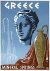 TX256 Vintage 1950's Greece Mineral Springs Greek Travel Poster A1/A2/A3/A4