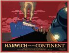 TX308 Vintage 1930's Harwich LNER Railway British Travel Poster A1/A2/A3/A4