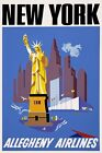 TX239 Vintage 1950's New York Statue of Liberty Travel Poster A1/A2/A3/A4