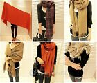New 1PC Fashion Warm Girls Woolen Yarn Lattice Tassel Scarf Shawl Wrap
