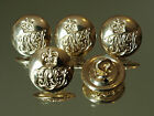 5x Royal Engineers Assn Cypher Gold Military Indented Buttons 20mm