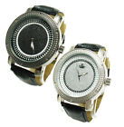 Genuine Men's Diamond Maxx Three Tone Iced Out Face Watch (Choose Color)
