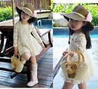 Pretty Kids Girls Toddlers Lace Flower Princess Skirt Baby Formal Dress 2-7Years