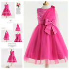 HP8910 Hot Pink Christening Flower Girls Easter Dresses SIZE 2-3-4-5-6-7-8-9-10T