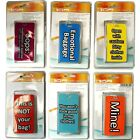 Secure Locking Novelty Luggage Tags Name & Address Red Yellow Blue Mine! Oops:..
