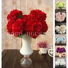 1 Bunch 7 Head Artificial Hydrangea Posy Bouquet Silk Flowers Floral Wedding