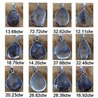 De Buman Genuine Phantom Crystal & Solid 925 Silver Necklaces with 18-inch Chain