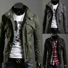 HOT Style New Men's Cool Stylish Casual Slim Fit Zip Coat Military Jacket 4 Size