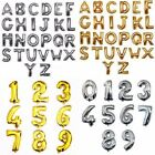 "16""/40"" Silver Gold Foil Letter Number Balloon Wedding Birthday Party Decoration"