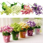 1 Bouquet Artificial Campanula Silk Flowers Home Wedding Bridal Party Decoration